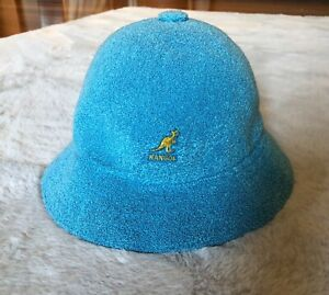 KANGOL, Bermuda Casual Bucket Cap Hat, Size Small, Blue