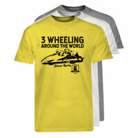 3 Wheeling T-shirt Official 3 Wheeling Around the World Sidecar Racing Tee