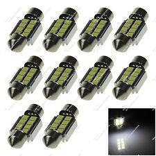 10X White 31mm 32MM 8 SMD 2835 LED Interior Lamp Canbus Error Free Auto Z20268