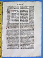 Incunabula,Latin Bible,10 Lvs.Gospel John Chapter 11,1-14,19,Koberger,1487