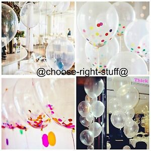 "12"" Transparent Balloons & Clear Balloons For Wedding Anniversaries Engagement"