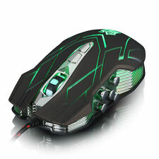 UK iGamer JS-X9 II 9D 3500DPI 10 LED Lighting Usb Wired Gaming Mouse LOL Brown