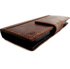 Leather Case for Nokia Lumia 928 bookWallet Cover vintage brown slim magnet new