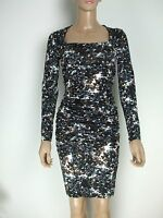 D by DAMSEL in a Dress Spot Print Jersey Dress Ruched Bodycon Party Size 8 - 20