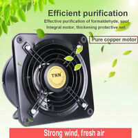 220V Industrial Ventilation Extractor Axial Exhaust Commercial Blower Plate Fan