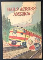 RAILS ACROSS AMERICA 1960 Promotional Comic Book RAILROAD ASSOC. Uncle Sam VG/FN