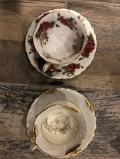 2 Shafford tea cup and saucer Sets made in JapanBoth Floral