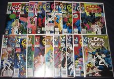 MUTANT MISADVENTURES OF CLOAK & DAGGER #1-19 Full Set! Marvel TV Show! 1988