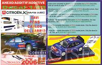 ANEXO DECAL 1/43 CITROEN XSARA WRC XAVI PONS R.TURKEY 2006 4th (01)