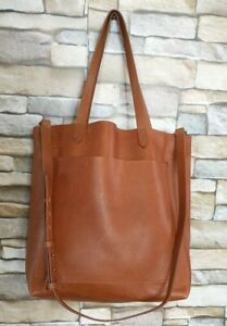 Madewell Transport Tote Bag  Brown Leather  Sz Large