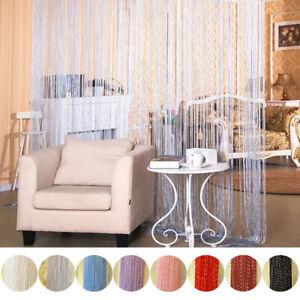 String Door Curtain Beads Room Divider Tassel Crystal Fringe Window Panel Beaded