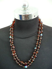 Bead Necklace Red No Closure 4 Way Wearing May Use As A Bracelet Beautiful NEWWW
