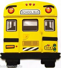 EK SUCCESS JOLEE'S BY YOU 3-D EMBELLISHMENT CHILDREN TRANSPORT YELLOW SCHOOL BUS