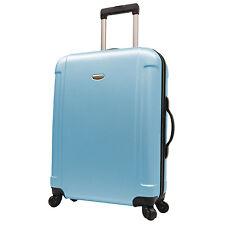 "Traveler's Choice Blue Freedom 29"" Lightweight Spinner Luggage Suitcase TSA Lock"