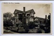 (Lm313-374) Real Photo of Moreton Old Hall, CHESHIRE, c1920 Unused G-VG