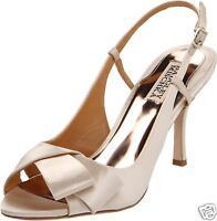 NIB Badgley Mischka GWYNN wedding slingback sandals open toe shoes Vanilla 9,5