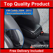 VW CADDY & MAXI 2004-15 BLACK LEATHERETTE ADJUSTABLE TAILORED FIT ARM REST VAN