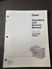 Onan Operators Service Manual JB-JC Industrial Engine Book Guide Workshop Repair