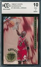 MICHAEL JORDAN 1996-97 HOOPS SUPERFEATS BCCG 10 INSERT CARD #1 BGS!