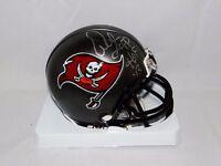 Warren Sapp HOF Autographed *Silver Tampa Bay TB 97-13 Mini Helmet- JSA W Auth