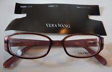 Vera Wang V018 Cabernet 48/17 Eyeglass Frame New