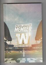 2017 CFL Winnipeg Blue Bombers Official Season Ticket Holder Hardcover Handbook