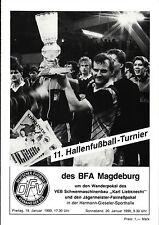 19.01.1990 HT 1. FC Magdeburg, VfB Oldenburg, HFC Chemie, Schönebeck, Emden, ...