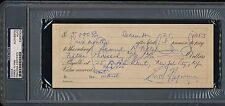 1953 Errol Flynn Signed Cancelled Autograph Check Robin Hood PSA/DNA