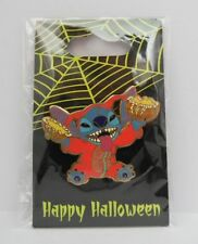 Disney Stitch in his Halloween Devil Costume Holding a Smashed Pumpkin 2006 Pin