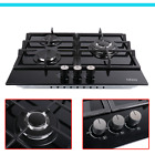"""24"""" Gas Cooktop Stove Top 3 Burners Tempered Glass Built-In LPG/NG Gas Cooktops  photo"""