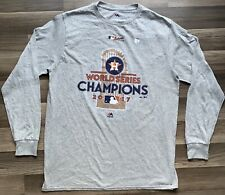 NeW Houston Astros World Series Champions T Shirt Majestic Mens Large Long Sleev
