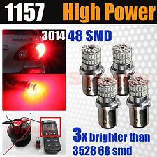 4x 1157 High Power 3014 Chip Red Brake Stop Tail Turn Signal LED Light Bulbs