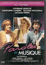 "DVD ""PAROLES ET MUSIQUE"" Catherine Deneuve Christophe Lambert Richard Anconina"