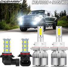 Led Headlight Hi/Lo Beam+Fog Lights Combo for 2005 2006-2014 Ford F150 F250 F350