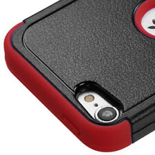 for iPod Touch 5th / 6th Gen - RED Impact Kickstand Hard&Soft Rubber Hybrid Case