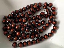 Glaswachsperlen Perlen apfelgrün glänzend 8 mm 100 Stück Schmuck Basteln 139