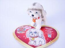 Figurine KIKI ou MIRIAM le Bichon Maltais+ sa carte  Puppy  in my Pocket Série 1