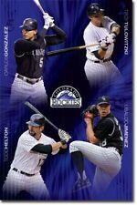 BASEBALL POSTER Colorado Rockies Collage MLB Tulowitzki