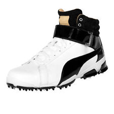 New Puma Titan Tour Ignite Hi-Top Se Golf Shoes White Black Juniors Size-2