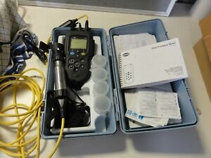 HACH HQ40d multi pH EC LDO ISE meter kit w/ pH & Conductivity probes in case etc