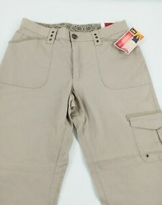 LEE Women's Comfort Fit Stretch Khakis, Chinos, Straight Leg, Size 10P New