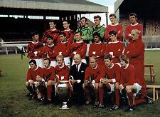 RARE 1968 Manchester United 10 Signed 16x12 Autograph Photo AFTAL COA