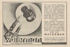 Z1199 Penna stilografica WATERMAN - Pubblicità d'epoca - 1932 Old advertising