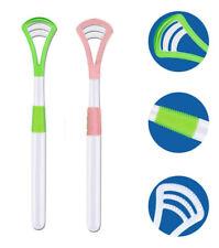2X Tongue cleaner plastic scraper Tounge oral mouth hygiene Dental Care UK