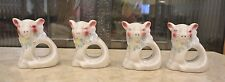 Set of 4 Vintage Ceramic Piggy Napkin Rings