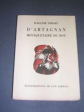 Illustré D'Artagna mousquetaire 1/500 exemplaire sur alfa ill. Couleurs Sabran