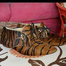 Gucci Women Men animal hair Loafers Black Size 39.5 vintage 9.5 unisex shoes