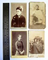 4 x  Victorian Carte de Visite Card Photograph by Wood Turner etc