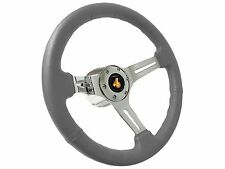 1973 - 1987 Buick Regal Grand National Gray Steering Wheel Chrome Kit