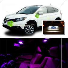 For Honda CRV 2007 - 2012 Pink LED Interior Kit + Xenon White License Light LED